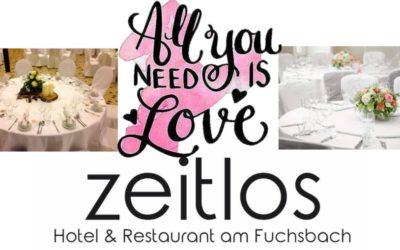 """all you need is love"" – Feiern im zeitlos"
