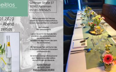 Gin-Abend im zeitlos am 24.01.2020